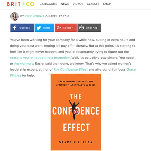 Grace Killelea-The Confidence Effect  on Brit and co.